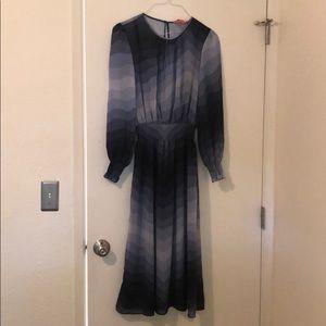 Catherine malandrino dress new size 8 purple blue